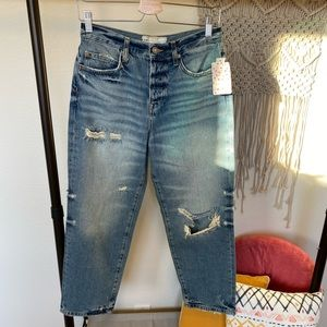 Free People | Ripped Crop Boyfriend Jeans, SZ 26